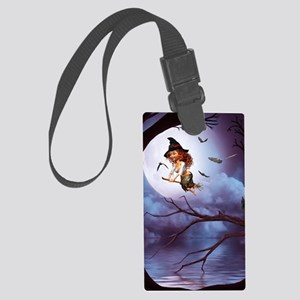 little_witch_framed_panel_print_ Large Luggage Tag
