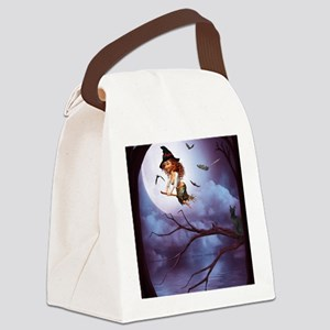 little_witch_framed_panel_print_s Canvas Lunch Bag