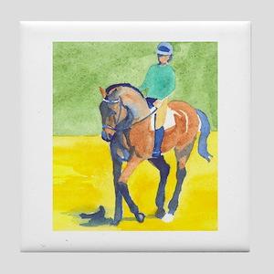 Tile dressage rider bay horse color