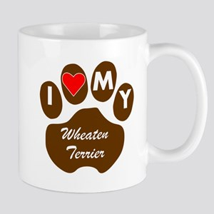 I Heart My Wheaten Terrier Mugs
