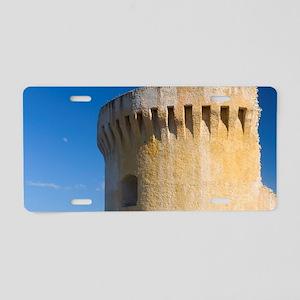 Corsica. Ruins of Genoese t Aluminum License Plate