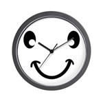 Smiley Black Wall Clock