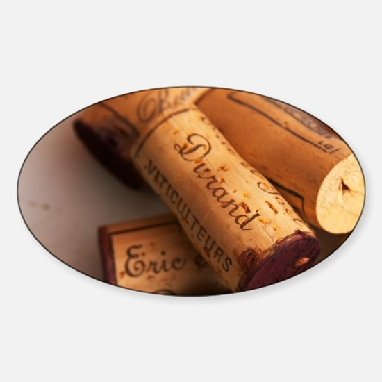 Corks stampled with Eric and Joel D Sticker (Oval)