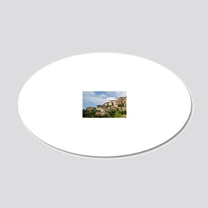 France, Corsica. Mountain vi 20x12 Oval Wall Decal