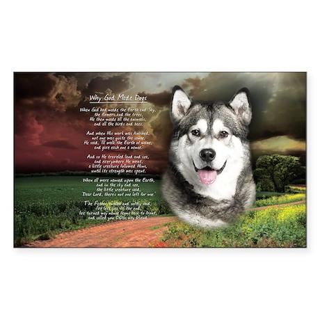 godmadedogs(oval) Sticker (Rectangle)