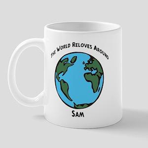 Revolves around Sam Mug