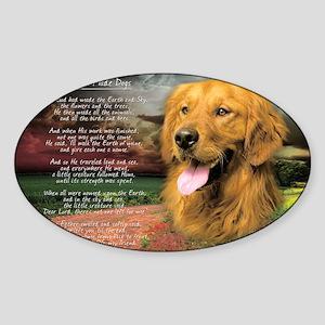godmadedogs(carmag) Sticker (Oval)