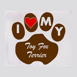 I Heart My Toy Fox Terrier Throw Blanket