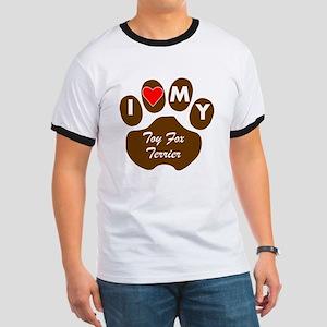 I Heart My Toy Fox Terrier T-Shirt