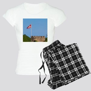 Tower and flag of Chateau C Women's Light Pajamas
