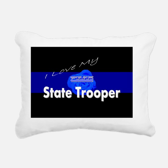 Love my state trooper Rectangular Canvas Pillow