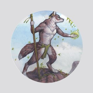Earth Wolf TEE Round Ornament