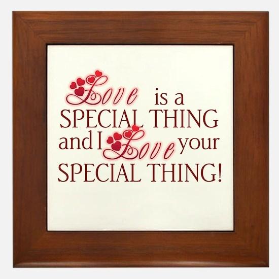 Love is Special Framed Tile