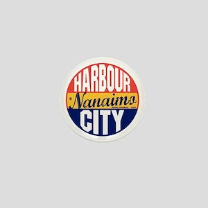 Nanaimo Vintage Label B Mini Button