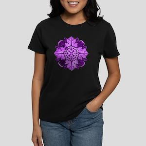 Purple Parquet Women's Dark T-Shirt