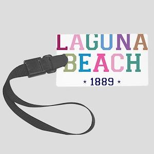 Laguna Beach 1889 B Large Luggage Tag