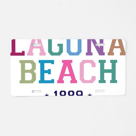 Laguna Beach 1889 B Aluminum License Plate