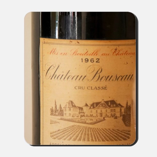 A bottle magnum of Chateau Bouscaut 1962 Mousepad