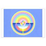Rainbow Lotus Large Poster