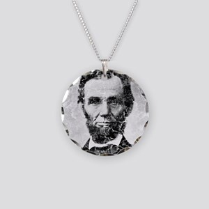 abe distressed Necklace Circle Charm