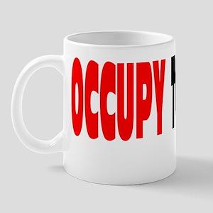 occupy together lic. plate Mug