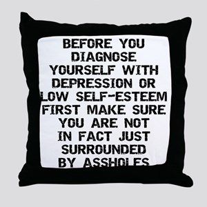 2000x2000beforeyoudiagnose Throw Pillow