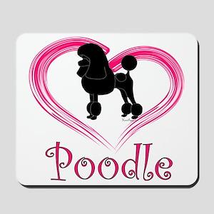 PoodleSilhouetteHeart Mousepad