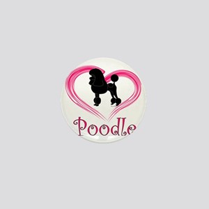 PoodleSilhouetteHeart Mini Button