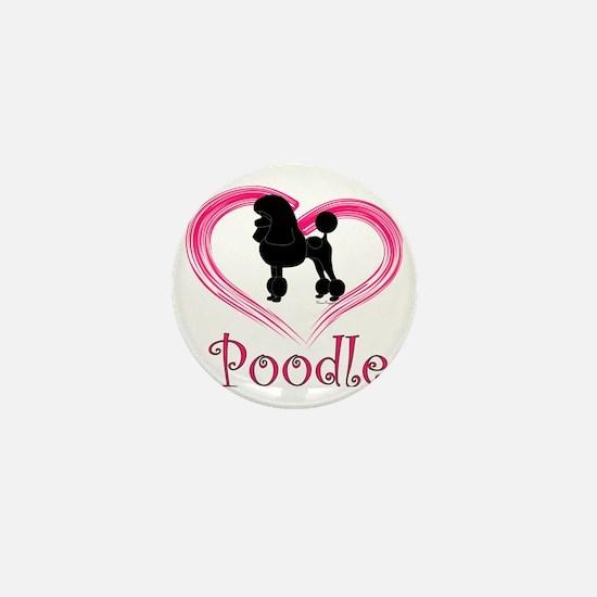 PoodleSilhouetteHeart Mini Button