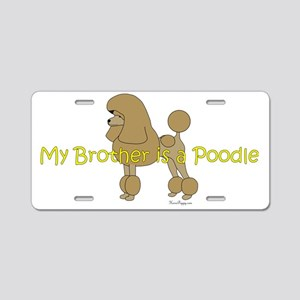 PoodleApricotBrother Aluminum License Plate
