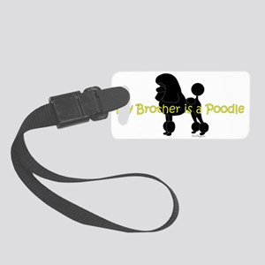 PoodleSilhouetteBrother Small Luggage Tag