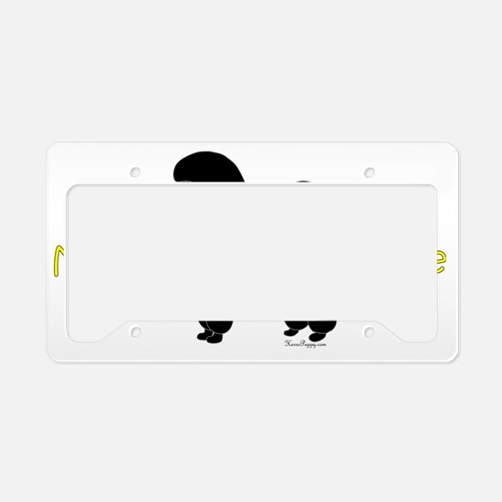 PoodleSilhouetteBrother License Plate Holder