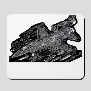 F16-Black Mousepad