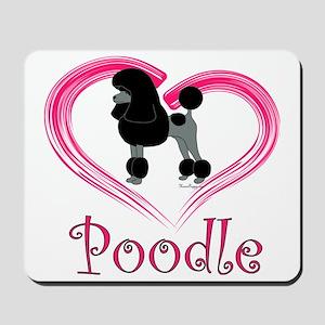 PoodleBlackHeart Mousepad