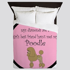 PoodleApricotGBF Queen Duvet