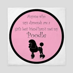 PoodleSilhouetteGBF Queen Duvet