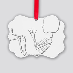 skeletonbaby Picture Ornament