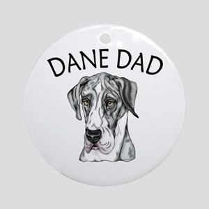 Great Dane Dad MerleB UC Ornament (Round)