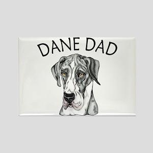 Great Dane Dad MerleB UC Rectangle Magnet