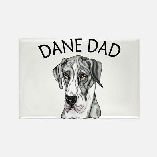 Great Dane Dad MerleB UC Rectangle Magnet