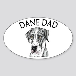 Great Dane Dad MerleB UC Oval Sticker