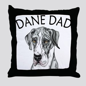 Great Dane Dad MerleB UC Throw Pillow