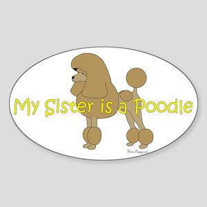 PoodleApricotSister Sticker (Oval)