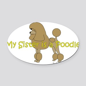 PoodleApricotSister Oval Car Magnet