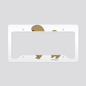 PoodleApricotSister License Plate Holder