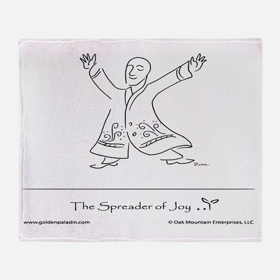 The Spreader of Joy Throw Blanket