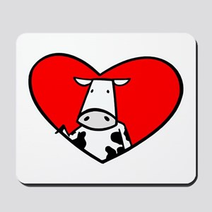I Heart Cows Mousepad