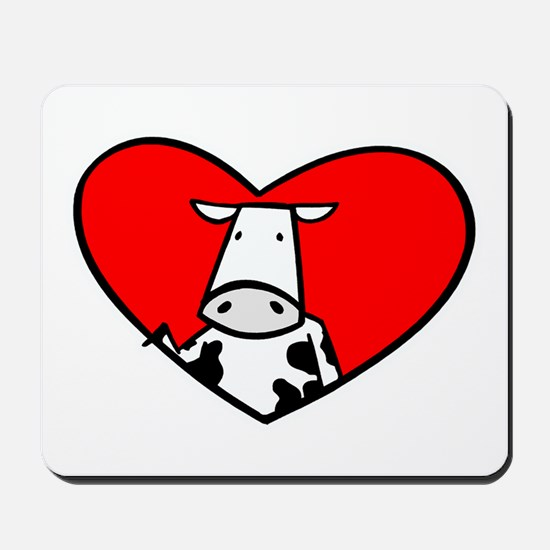 I Heart Cows Mousepad