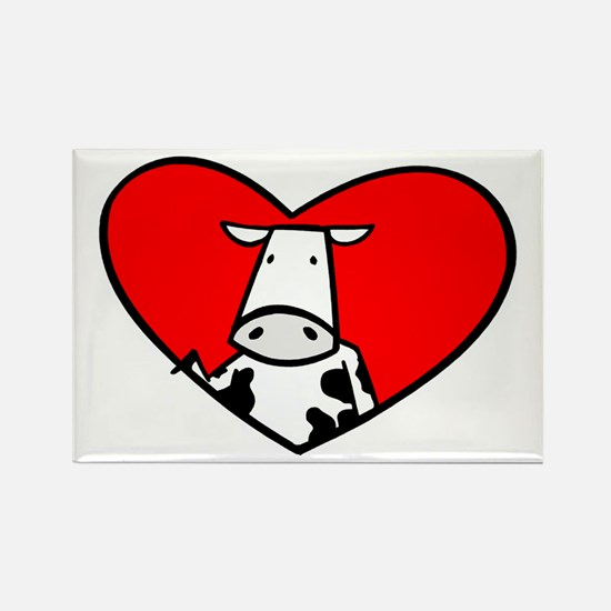 I Heart Cows Rectangle Magnet