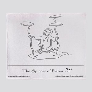 The Spinner of Plates Throw Blanket